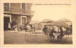 14 - LANGRUNE Sur MER : HOTEL Du PETIT PARADIS : La Terrasse - CPA - Calvados - Autres Communes