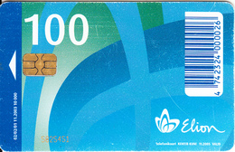 ESTONIA(chip) - Telecom Logo, Elion Telecard 100 Kr, Tirage 10000, 11/03, Used - Estonia