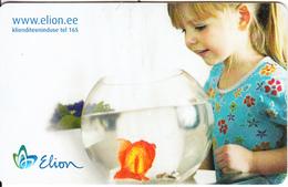 ESTONIA(chip) - Girl With Aquarium, Elion Telecard 50 Kr, Tirage 72000, 11/04, Used - Estonia