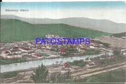 101681 HUNGARY ROZSAHEGY VIEW GENERAL STATION TRAIN POSTAL POSTCARD - Hungary