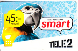 ESTONIA - Parrot, Tele 2 Prepaid Card 45 Kr, Exp.date 21/05/12, Used - Parrots