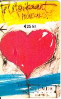 ESTONIA - Heart, Hotel Olympia Telecard, First Issue 25 Kr, Tirage %8000, Exp.date 12/96, Used - Estonia