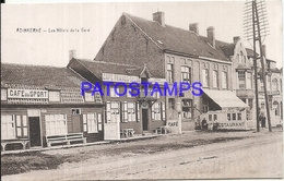 101691 BELGIUM BELGICA ADINKERKE HOTEL & STATION TRAIN POSTAL POSTCARD - Belgique