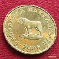 Macedonia 1 Denar 2006 KM# 2 Dog Macedoine Mazedonien - Macédoine