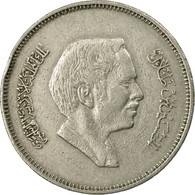 Monnaie, Jordan, Hussein, 50 Fils, 1/2 Dirham, 1977/AH1397, TB, Copper-nickel - Jordanie