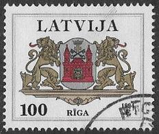 Latvia SG403 Arms 100s Good/fine Used [22/19750/6D] - Latvia