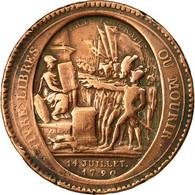 Monnaie, France, 5 Sols, 1792, Birmingham, TB, Bronze, KM:Tn31 - 1789-1795 Period: Revolution