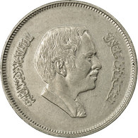 Monnaie, Jordan, Hussein, 50 Fils, 1/2 Dirham, 1994/AH1404, TB+, Copper-nickel - Jordanie