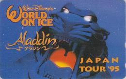 Télécarte Japon / 110-011 - DISNEY ON ICE - Cinéma Film - ALADDIN -  Japan TOUR 95 Movie Phonecard - Disney