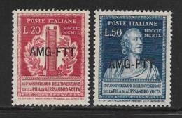 Trieste Zone A, Scott # 53-4 MNH Italy # 526-7 Overprinted, 1949 - 7. Trieste