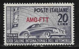 Trieste Zone A, Scott # 71 MNH Italy # 532 Overprinted, 1950 - 7. Trieste