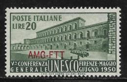 Trieste Zone A, Scott # 72 MNH Italy # 533 Overprinted, 1950 - 7. Trieste
