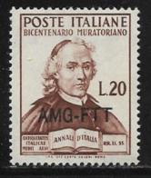 Trieste Zone A, Scott # 79 MNH Italy # 540 Overprinted, 1950 - 7. Trieste