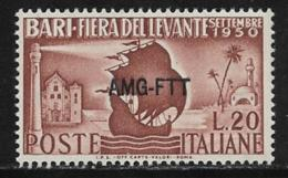 Trieste Zone A, Scott # 81 MNH Italy # 542 Overprinted, 1950 - 7. Trieste