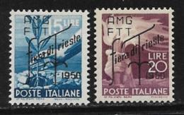 Trieste Zone A, Scott # 82-3 MNH Italy # 473A, 474 Overprinted, 1950 - 7. Trieste
