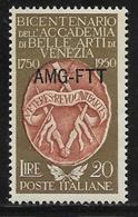 Trieste Zone A, Scott # 88 MNH Italy #547 Overprinted, 1950 - 7. Trieste