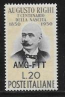 Trieste Zone A, Scott # 89 MNH Italy #548 Overprinted, 1950 - 7. Trieste