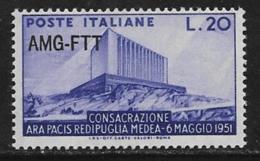 Trieste Zone A, Scott # 112 MNH Italy #571 Overprinted, 1951 - 7. Trieste