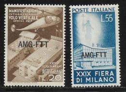 Trieste Zone A, Scott # 113-4 MNH Italy #572-3 Overprinted, 1951 - 7. Trieste