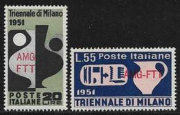 Trieste Zone A, Scott # 126-7 MNH Italy #582-3 Overprinted, 1951 - 7. Trieste