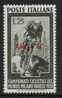 Trieste Zone A, Scott # 128 MNH Italy #584 Overprinted, 1951 - 7. Trieste
