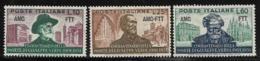 Trieste Zone A, Scott # 138-140 Mint Hinged Italy #594-6 Overprinted, 1951 - 7. Trieste