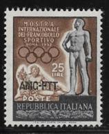 Trieste Zone A, Scott # 143 MNH Italy #599 Overprinted, 1952 - 7. Trieste