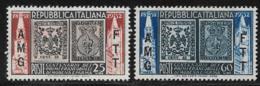 Trieste Zone A, Scott # 146-7 MNH Italy #602-3 Overprinted, 1952 - 7. Trieste