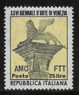 Trieste Zone A, Scott # 149 Mint Hinged Italy #605 Overprinted, 1952 - 7. Trieste