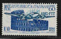 Trieste Zone A, Scott # 155 Mint Hinged Italy #611 Overprinted, 1952 - 7. Triest
