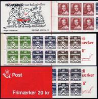 Denmark 709b Booklet,MNH. Definitive 1985.Wavy Lines Numeral,Queen Margrethe II. - Denmark