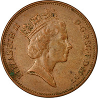 Monnaie, Grande-Bretagne, Elizabeth II, 2 Pence, 1997, TB+, Copper Plated Steel - 1971-… : Monnaies Décimales