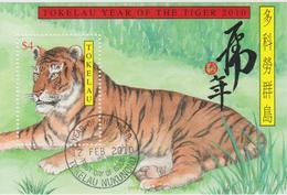 Tokelau Block Mi 43 Lunar New Year - Year Of The Tiger 2010 - First Day Cancellation In Nukunonu - Tokelau