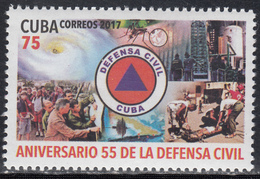 CUBA MNH 2017 Defense - FDC