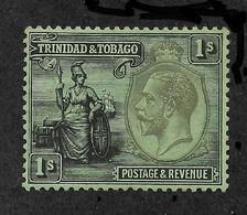 Trinidad & Tobago 1922, 1sh Scott # 33,VF Mint Hinged*OG ,Fresh Color ! (SP-3) - Trinidad & Tobago (...-1961)