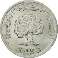 Monnaie, Tunisie, 5 Millim, 1983, Paris, SUP+, Aluminium, KM:282 - Tunisie