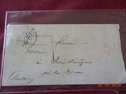 Lettre De 1843 En Provenance De Le Mans A Destination De Yvre L Eveque - Marcophilie (Lettres)