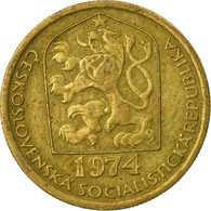 Monnaie, Tchécoslovaquie, 20 Haleru, 1974, TTB, Nickel-brass, KM:74 - Tchécoslovaquie