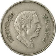Monnaie, Jordan, Hussein, 50 Fils, 1/2 Dirham, 1977/AH1397, TB+, Copper-nickel - Jordanie