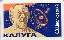 KALUGA : 018001 -   K.E. Tsiolkovsky (space) CH15 USED - Russia