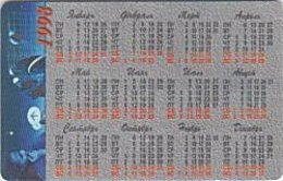 KALUGA : 018022A 10u GOLD Map/Calendar1998 CH23 USED - Russia
