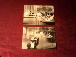 LOT DE 2 PHOTOS DE JEAN CLAUDE BOURRET    LE 10 MAI 1987 - Beroemde Personen