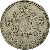 Monnaie, Barbados, 25 Cents, 1981, Franklin Mint, TTB, Copper-nickel, KM:13 - Barbados