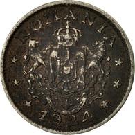 Monnaie, Roumanie, Ferdinand I, Leu, 1924, B+, Copper-nickel, KM:46 - Romania