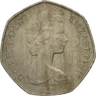 Monnaie, Grande-Bretagne, Elizabeth II, 50 New Pence, 1977, TB, Copper-nickel - 1971-… : Decimal Coins