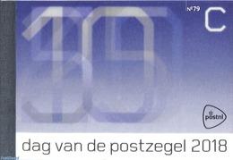 Netherlands 2018 Stamp Day, Prestige Booklet 79, (Mint NH), Stamp Booklets - Stamps On Stamps - Stamp Day - Stamp's Day