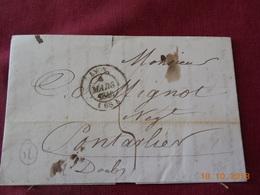 Lettre De 1840 En Provenance De Lyon A Destination De Pontarlier - Postmark Collection (Covers)