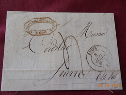 Lettre De 1835 En Provenance De Lyon A Destination De Seurre - Postmark Collection (Covers)