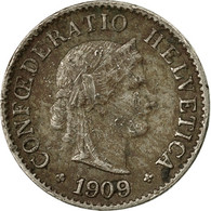 Monnaie, Suisse, 5 Rappen, 1909, Bern, B+, Copper-nickel, KM:26 - Switzerland