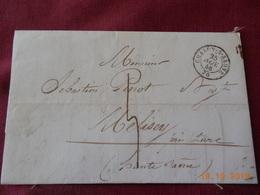 Lettre De 1848 En Provenance De Chalon/Saone A Destination De Melisey - Postmark Collection (Covers)